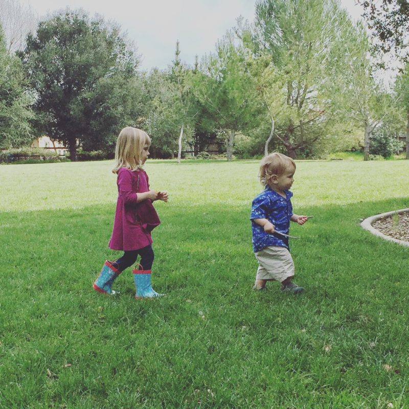 Two Children at Apple Valley Park Atascadero from the blog Two In Tow & On The Go