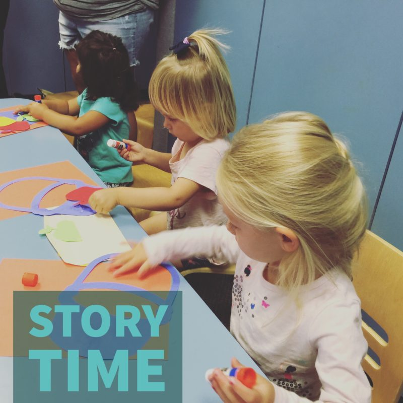 Library story times are fun places to go with kids in SLO County as described in the blog Two in Tow & On The Go