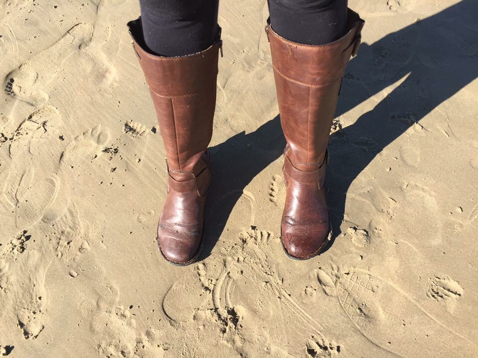 Born Womens Boots on the beach.