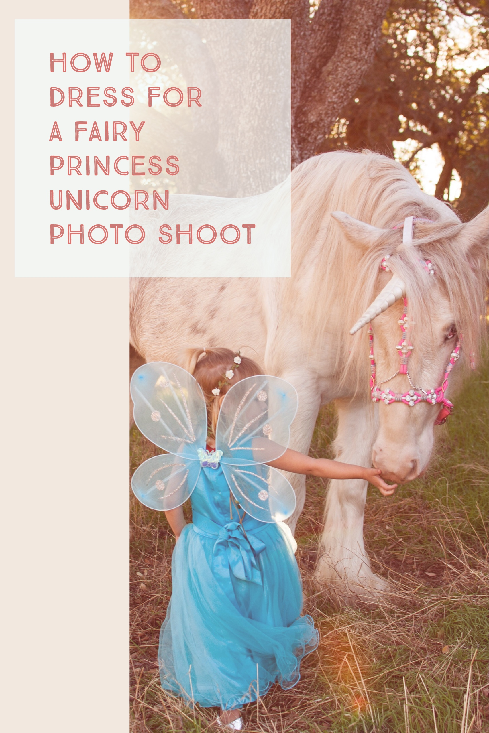 Everything you need to know to dress your daughter up like a fairy princess for a glitter-filled unicorn photo shoot.