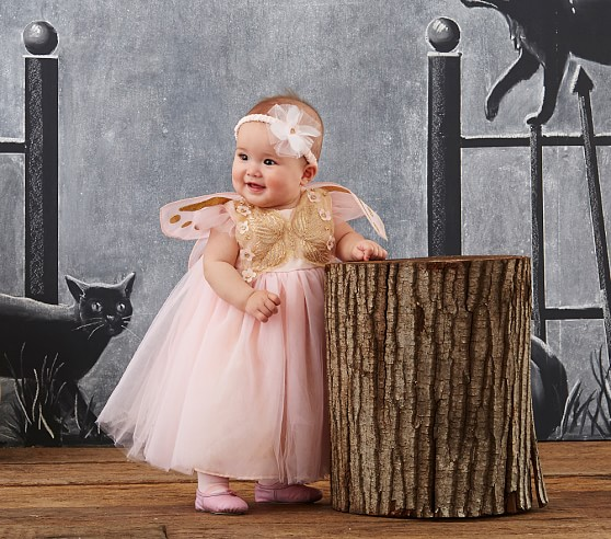 6dfa48381b12 Pottery Barn Kids has an adorable butterfly princess costume for baby with  golden wings and pink