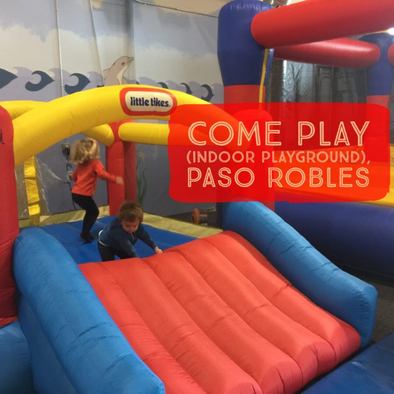 Here is a photo of Come Play indoor playground at Life Community Church in Paso Robles California, as blogged about in Two In Tow & On The Go.