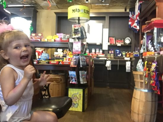 Child at SLO Sweets candy store in Paso Robles California.