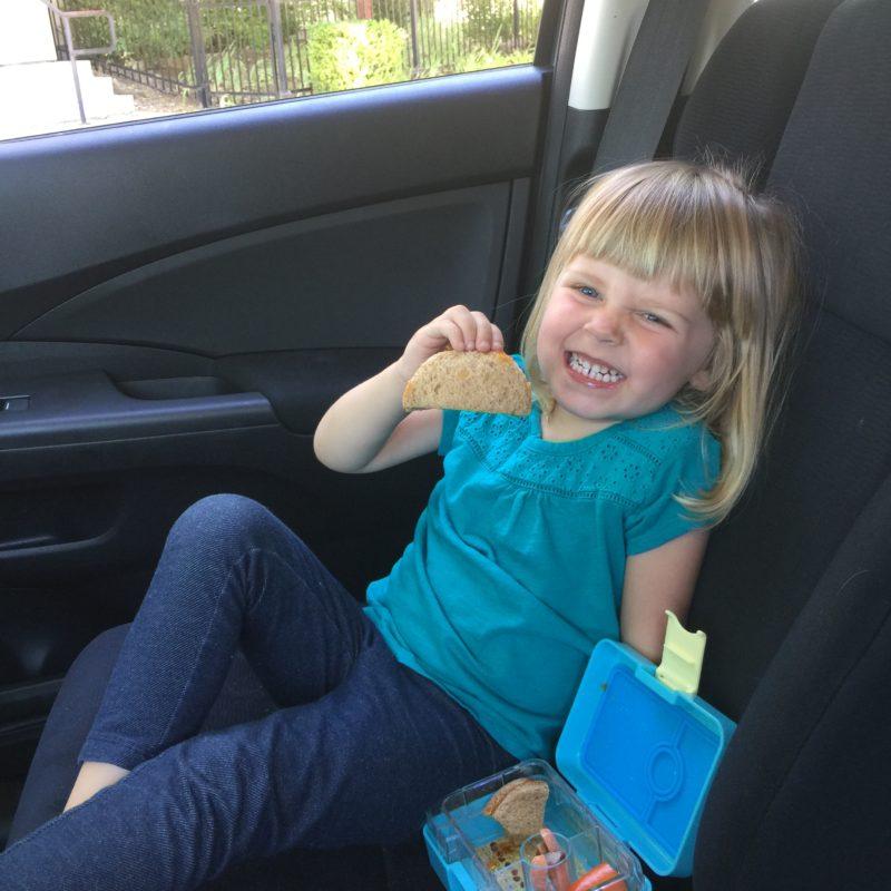 Picnic in the car in Paso Robles California