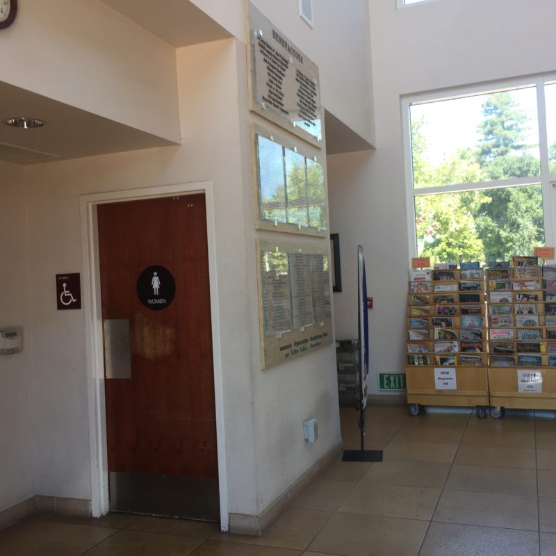 Bathrooms inside the library/cit hall building in Downtown Paso Robles California