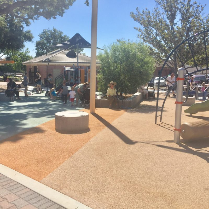 Toddler section at City Park playground in Downtown Paso Robles California