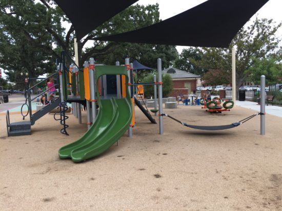 Big kids side at Paso Robles Downtown City Park playground