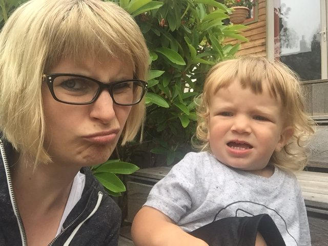 grumpy baby boy
