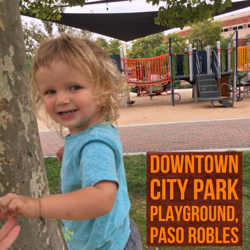 Review of Paso Robles Downtown City Park Playground by Two In Tow & On The Go at twontow.com