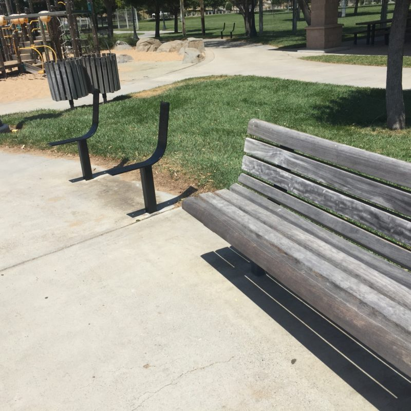 Barney Schwartz Park Paso Robles old benches