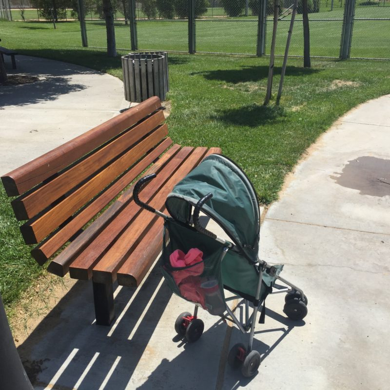 Barney Schwartz Park Paso Robles new bench