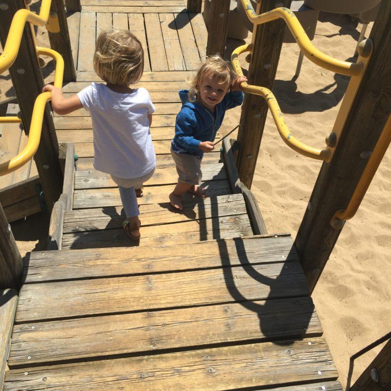 Barney Schwartz Park Paso Robles playground stairs
