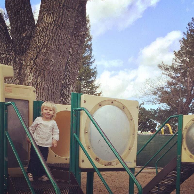 Old playground at Downtown City Park Paso Robles