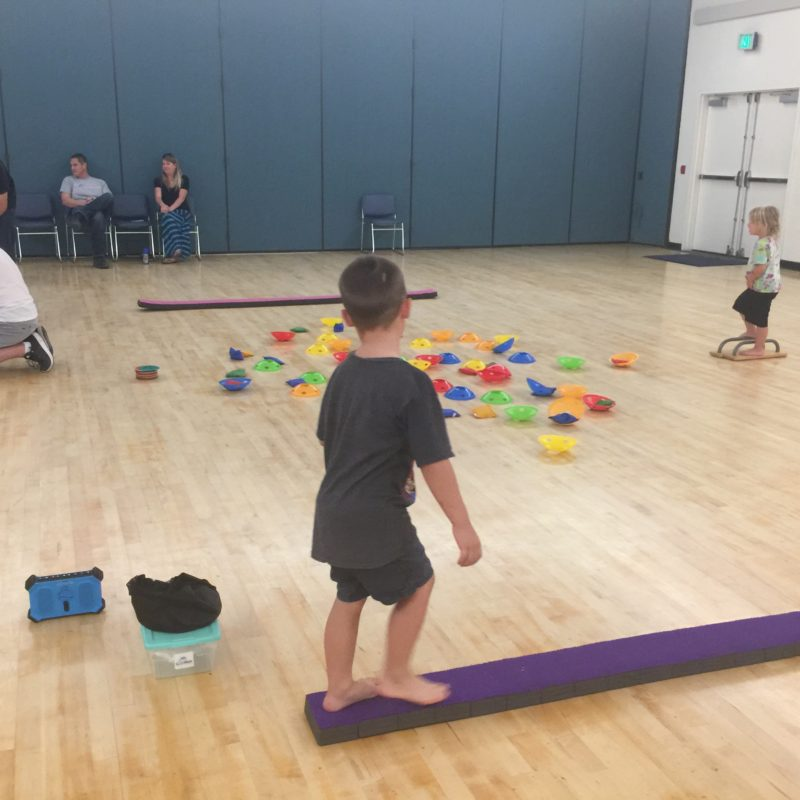 CaliKids Fitness class Paso Robles balance beam