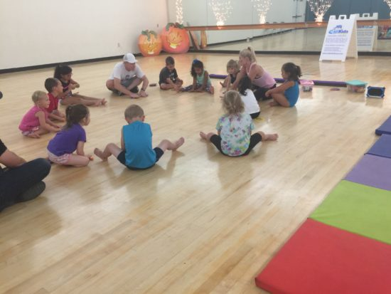 Calikids Fitness class Paso Robles circle time