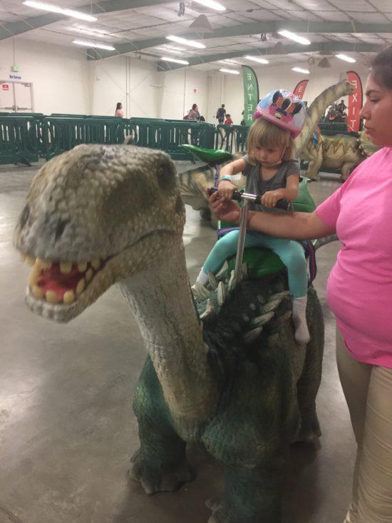 Jurassic Quest Paso Robles dino ride