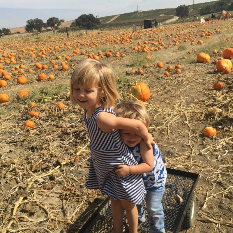 River K Pumpkin Patch Paso Robles crazy siblings