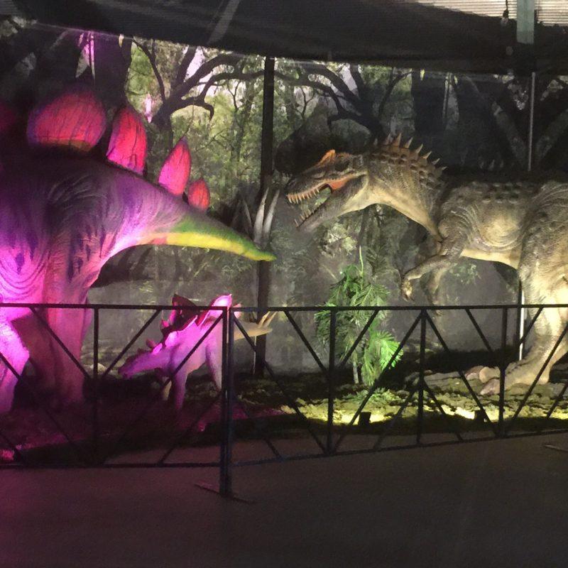Jurassic Quest Paso Robles Dino Exhibit lighting