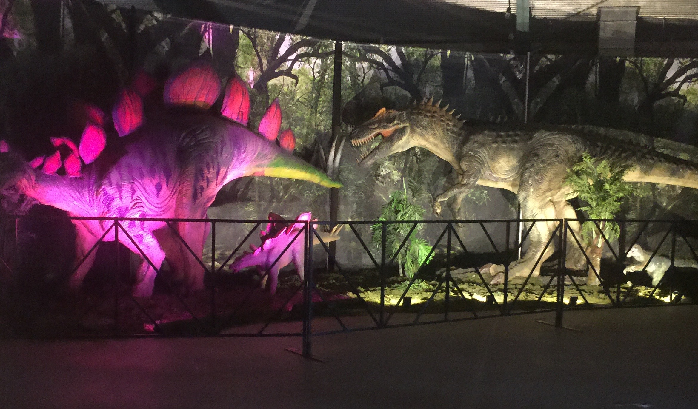 Jurassic Quest Paso Robles Dino Exhibit lighting - Two In