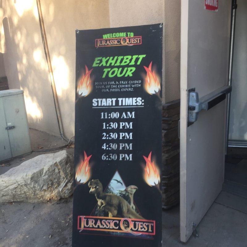 Jurassic Quest Paso Robles Dinosaur Exhibit Tour Times