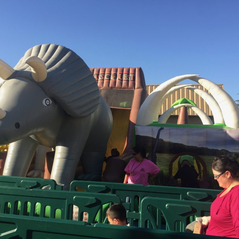 Jurassic Quest Paso Robles bounce houses