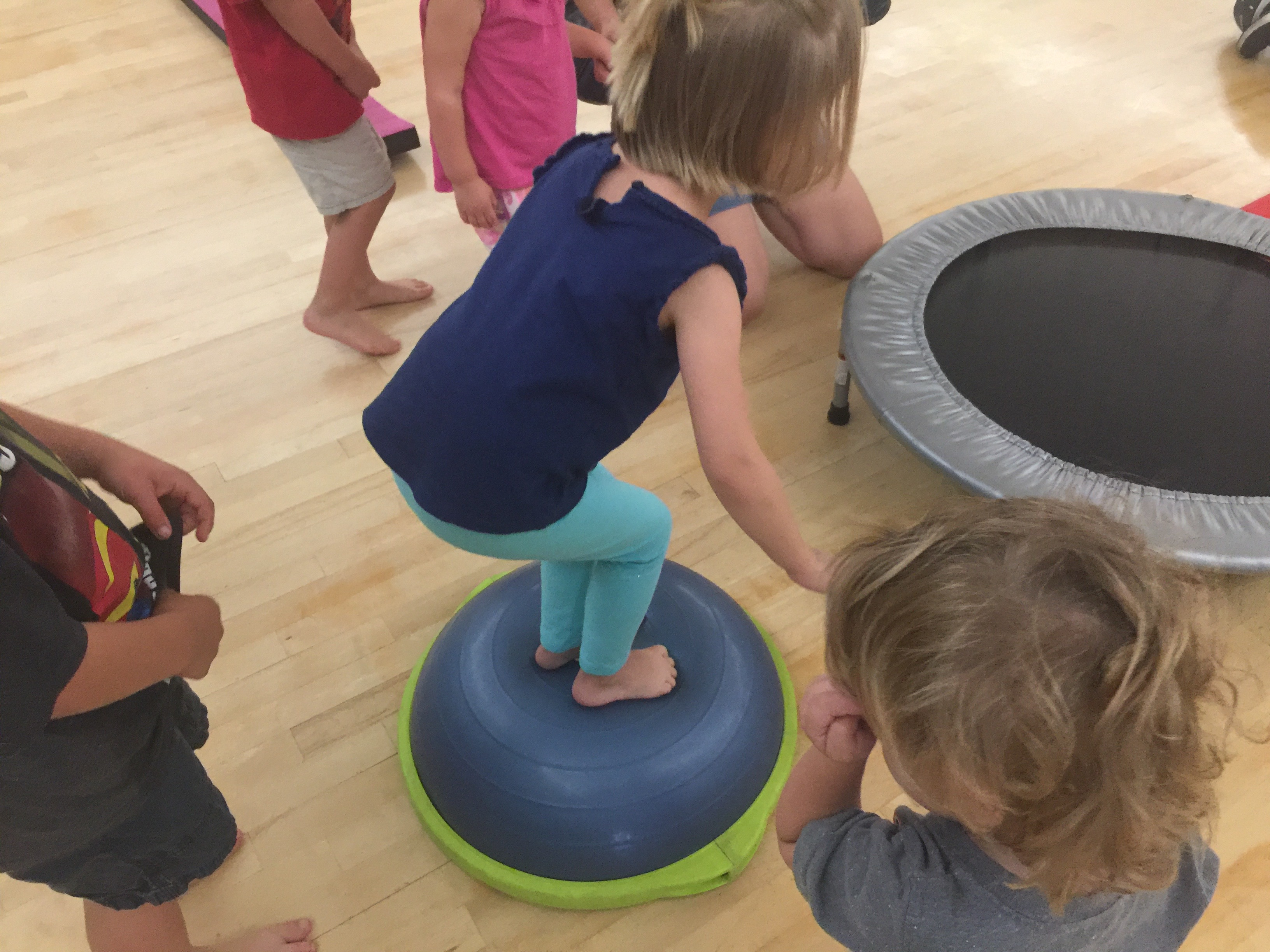 CaliKids Fitness class Paso Robles balance ball