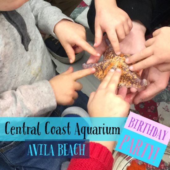 Birthday party at Central Coast Aquarium Avila Beach