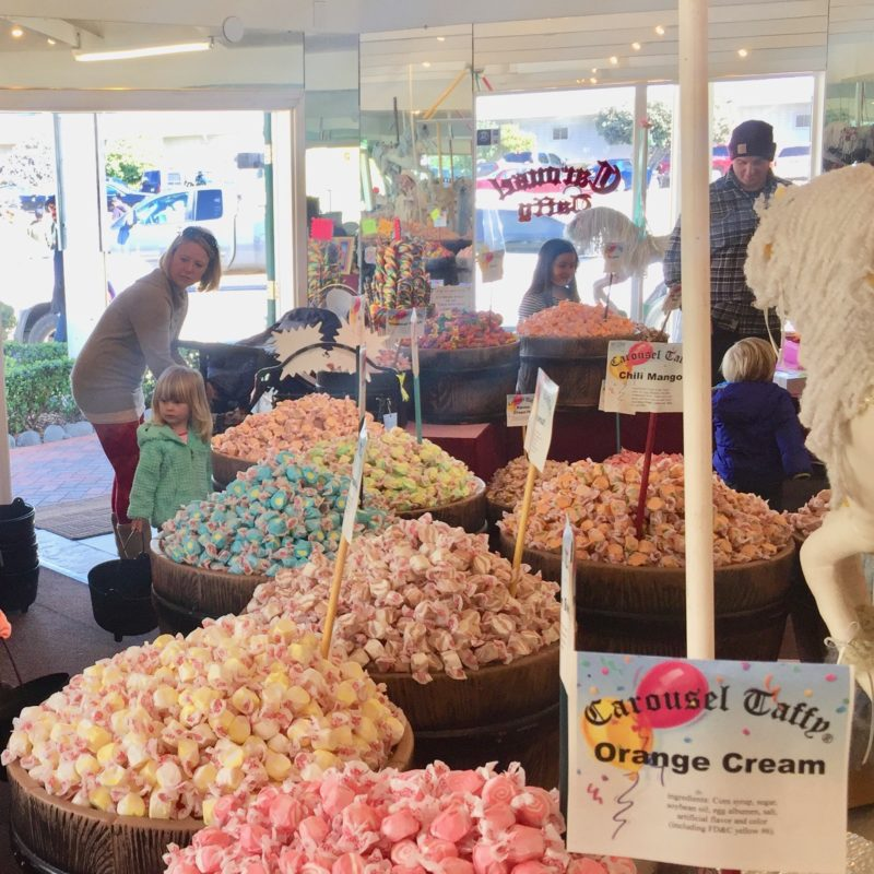 Two In Tow & On The Go Morro Bay with Kids Review_Carousel Taffy 1