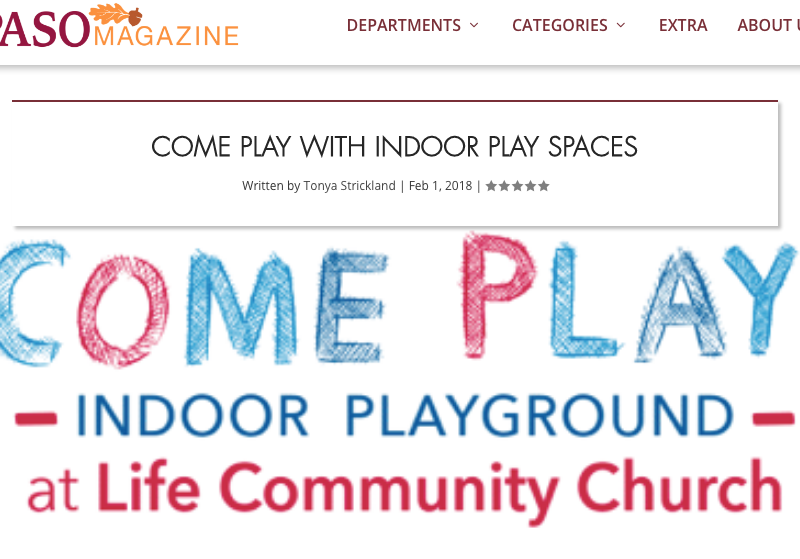 Come Play Life Community Church review Paso Mag