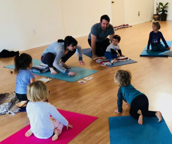 Two in Tow Review of Yaya Yoga ca Paso Robles kids yoga_animals