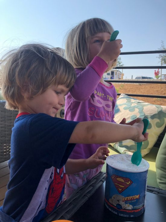 Cava Robles RV Resort in Paso Robles Review by Two In Tow And On The Go_Ice cream