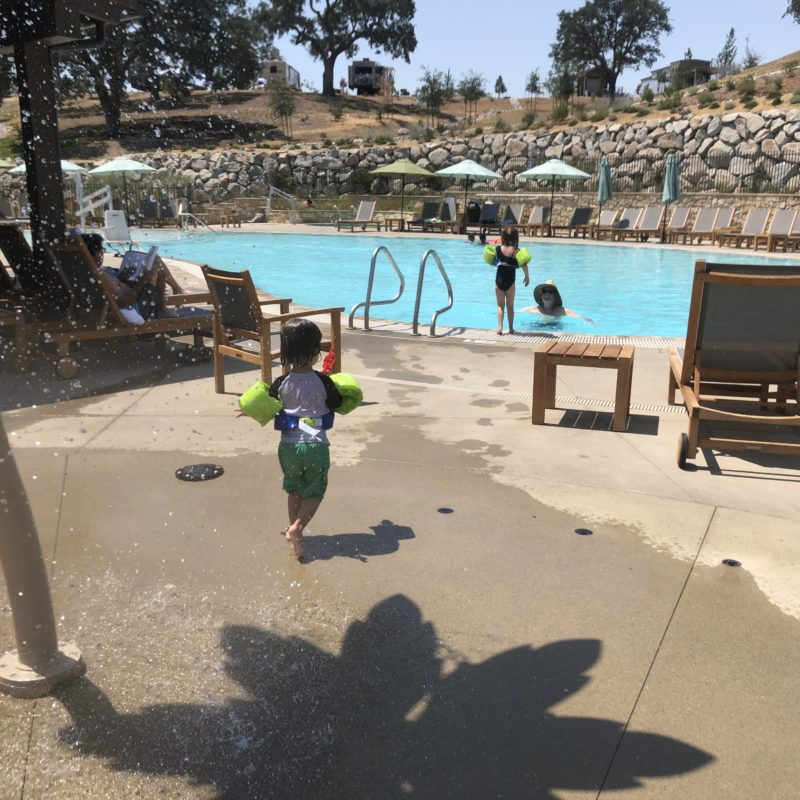 Cava Robles RV Resort in Paso Robles Review by Two In Tow And On The Go_Splash Pad 2