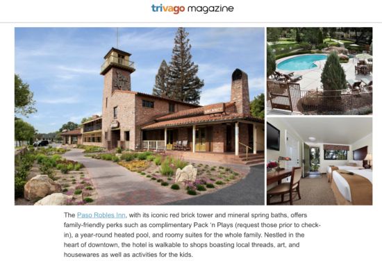 Two In Tow & On The Go's feature about the Paso Robles Inn For Trivago Magazine_1