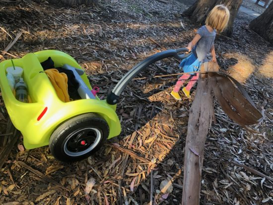 Review: Best Holiday Outdoor Gift for Adventure Kids. Simplay3's Trail Master 2-Seat Wagon_13