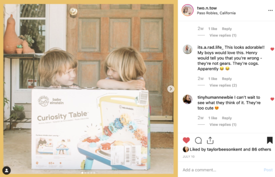 Curiosity Table by @BabyEinstein