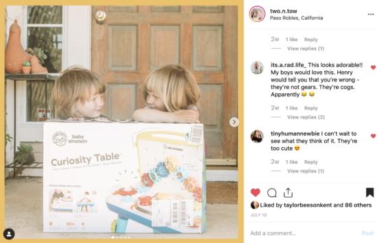 Curiosity Table by @BabyEinstein
