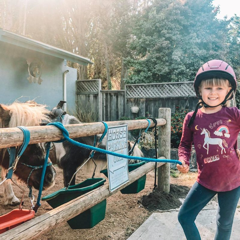 Tiny Trotters in Los Osos horse farm with ponies for kids