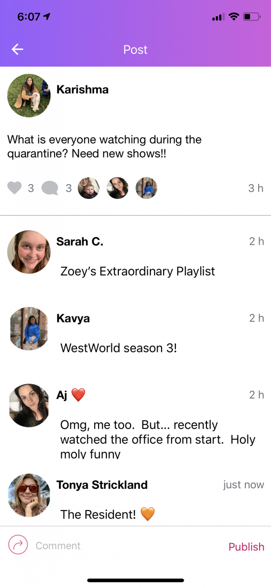 SocialMama App post about new netflix shows