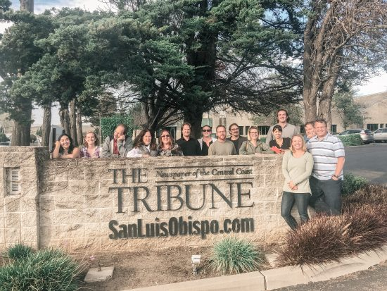 The Tribune sign