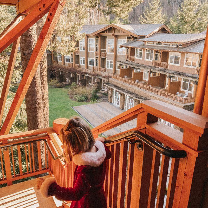 Alderbrook Resort & Spa outside stairs