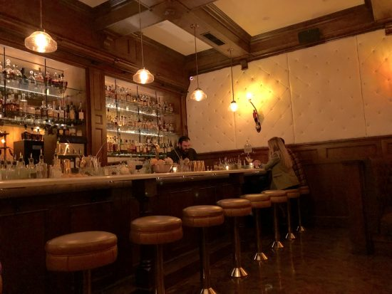plush cocktail bar