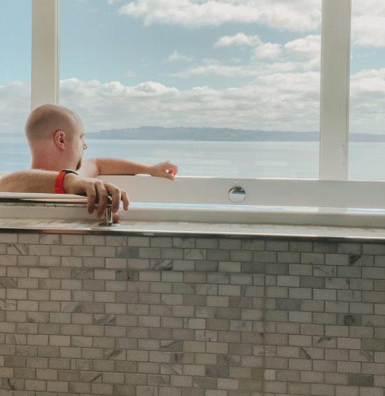 guy in tub